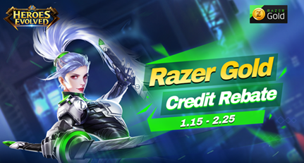 Razer Gold Credit Rebate will start on Jan 15th!