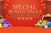 Special Benefit Packs on 09/29-09/30
