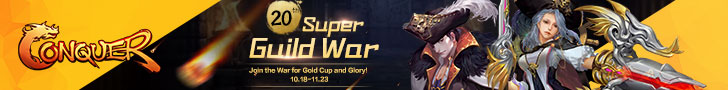 The 20th Super Guild War from October 18th to November 23rd
