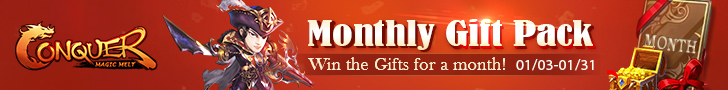 Monthly Gift Card on 01/03-01/31