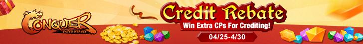 CPs Credit Rebate on 04/25-04/30