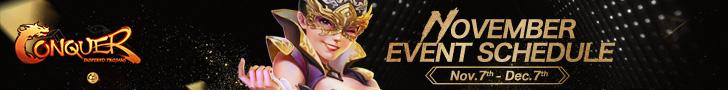 November Event Schedule