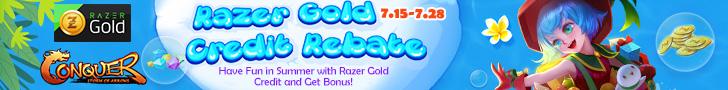 Razer Gold Credit Rebate