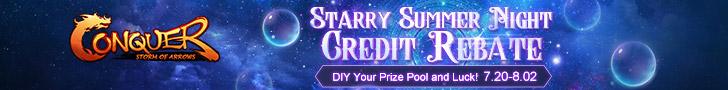 Starry Summer Night Credit Rebate